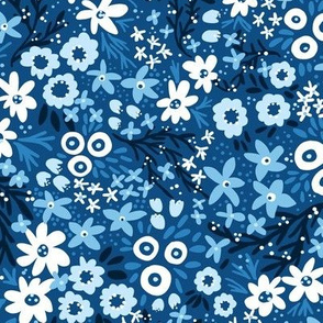 Rustic Wildflowers (Classic Blue)