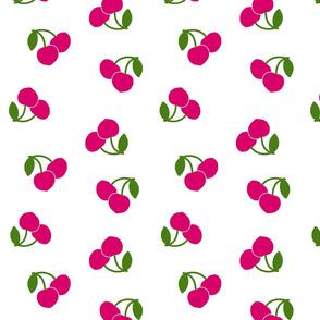 Pop Art Cherries! Pink on white, large