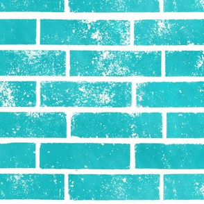 Teal Bricks Pattern