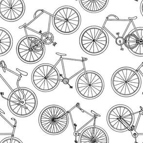 Vintage Bicycles Black & White