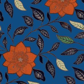 Asian Flower Classic Blue