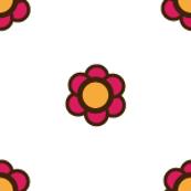 pink ditzy geometric flower motif_white-01