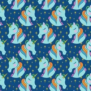 Rainbow Unicorn - Classic Blue