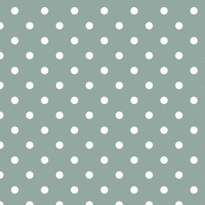 white swiss dots on mint