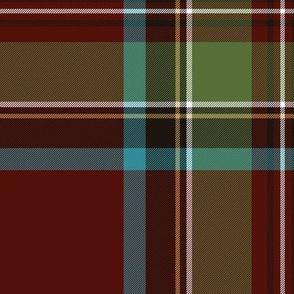 "Royal Stewart / Stuart tartan, 12"" weathered"