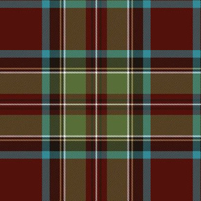 "Royal Stewart / Stuart tartan, 6"" weathered"
