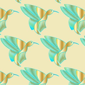 Hummingbird Haven (Tan)
