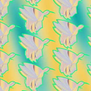 Hummingbird Haven (yellow/green)