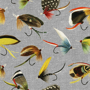 Vintage Fishing Flies - large scale