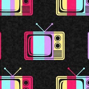 Colorful Retro TVs (Large Print Size)