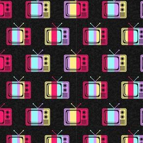 Colorful Retro TVs (Small Print Size)