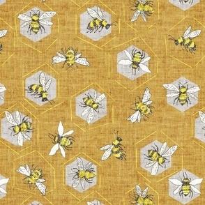 Ditsy Bee (gold) MED