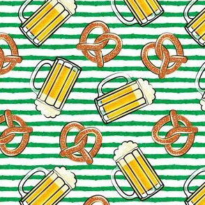 Beer and Pretzels - green stripes - LAD19