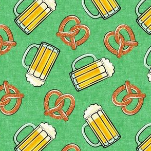 Beer and Pretzels - light green - LAD19