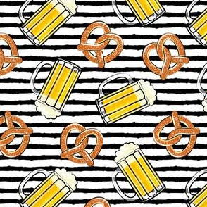 Beer and Pretzels - black stripes - LAD19
