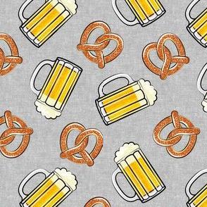 Beer and Pretzels - grey - LAD19