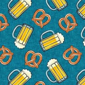 Beer and Pretzels - blue - LAD19