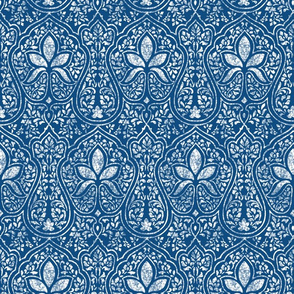 Rajkumari ~ Toujours Blue and White ~ Batik