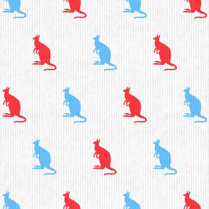 Kangaroos in Red & Blue