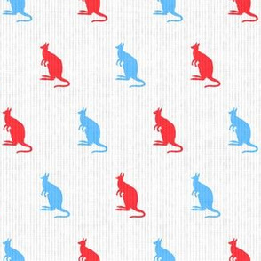 Kangaroos in Red & Blue (Small Print)