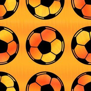 Hot Orange Soccer Balls