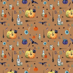 halloween pattern 2 Brown