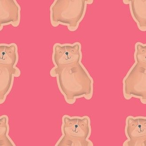 Kawaii Cat Retro Pink