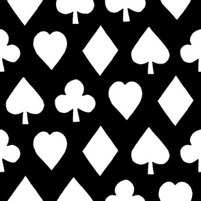 Poker Suits Black (Large Print)