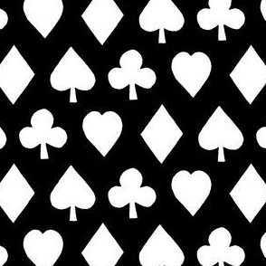 Poker Suits Black (Small Print)