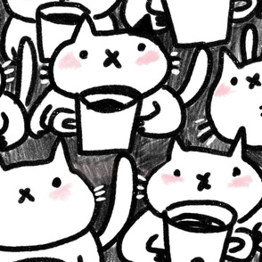 Funny coffee cats