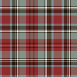 "Stewart / Stuart #1 weathered tartan, 12"" grey"