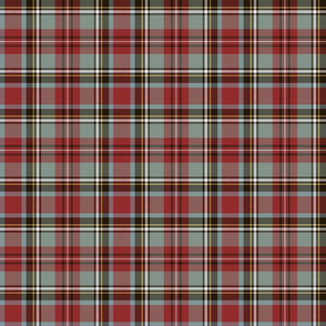 "Stewart / Stuart #1 weathered tartan, 6"" grey"