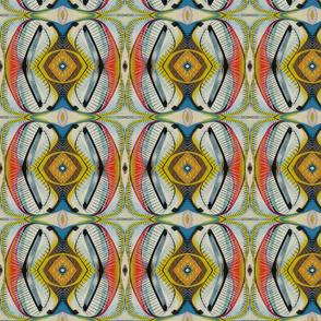 Yellow organic geometric