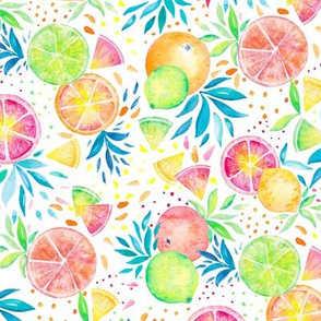 Citrus Splash on White
