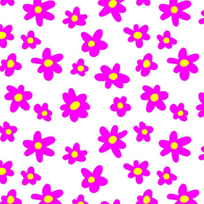 bright pink and yellow tile