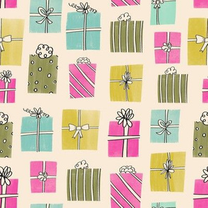 Retro Wrapped Gifts