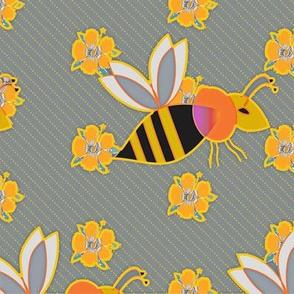 Hibiscus & Bee