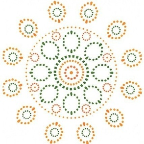 Circles - yellow. orange and green