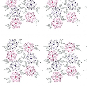 Flowers - purple and pink dots