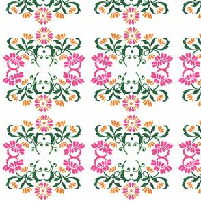 Flowers - pink and orange