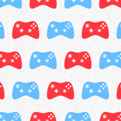 Video Game Controllers in Red & Blue