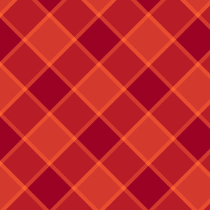 """Jacobite coat check, 6"""" diagonal, ruby red"""