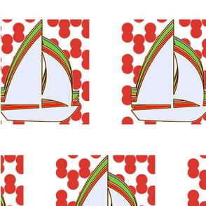 Sail Boat (White)