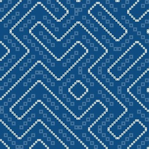 pantone colour of the year - blue maze truchet