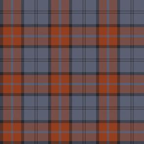 "Dunbar tartan, 6"" slate/weathered orange"