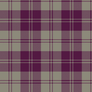 "Erskine dress tartan - 8"" plum and grey"