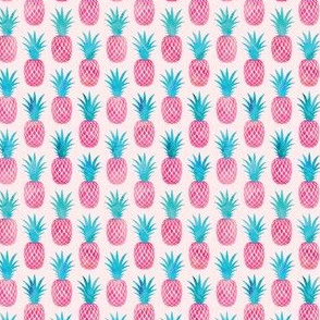 (small scale) pineapples - watercolor pink on pink C19BS
