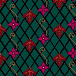 Maple and Fuschia Diamond Grid