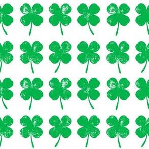 four leaf clovers - green - LAD19