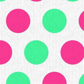 Teal & Pink Dots